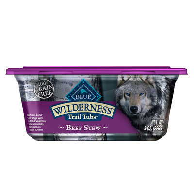 Blue Buffalo Blue Wilderness® Trail Tubs Dog Food - Natural, Grain Free, Beef Stew size: 8 Oz
