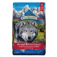 Blue Buffalo Blue Wilderness® Snake River Grill Dog Food - Natural, Grain Free, Trout, Venison and Rabbit size: 22 Lb