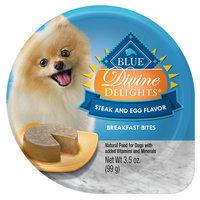 Blue Buffalo Blue Divine Delights, Breakfast Bites Dog Food - Natural, Steak and Egg size: 3.5 Oz