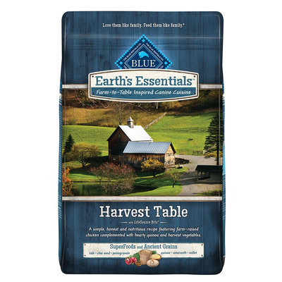 Blue Buffalo Blue Earth's Essentials Harvest Table Dog Food - Natural, Chicken and Quinoa size: 11 Lb