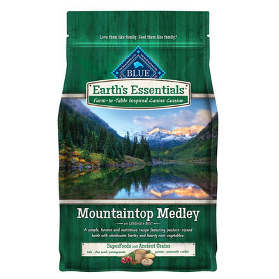 Blue Buffalo Blue Earth's Essentials Mountaintop Medley Dog Food - Natural, Lamb and Barley size: 4 Lb