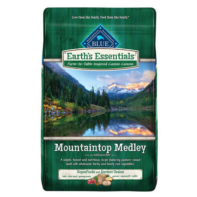 THE BLUE BUFFALO CO. BLUE™ Earth's Essentials™ Mountaintop Medley™ Lamb & Barley Dry Adult Dog Food