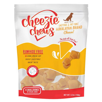 Cheezie Chews Rawhide Free Small Dog Treat - Cheese size: 6 Count