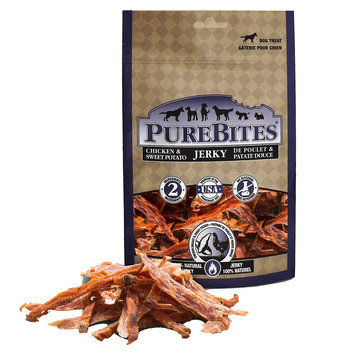 PureBites Jerky Dog Treat - Natural, Chicken and Sweet Potato size: 6.3 Oz