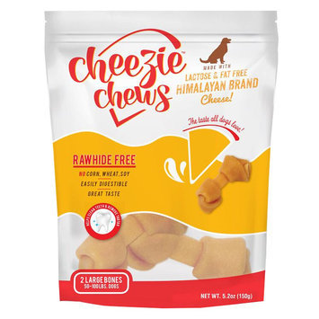 Cheezie Chews Rawhide Free Large Dog Treat - Cheese size: 2 Count