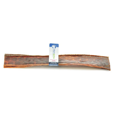 Barkworthies Beef Gullet Strip Large Dog Chew - Natural size: 12 in