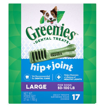 Greenies Hip and Joint Care Large Dental DogTreat size: 17 Count
