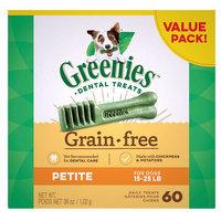 Greenies Grain Free Petite Dental Dog Treat size: 60 Count