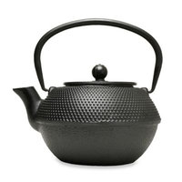Primula 40 oz. Hammered Cast Iron Teapot with Infuser in Black