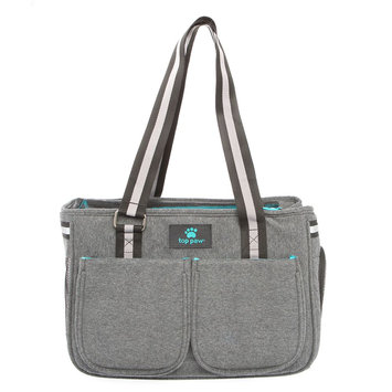 Top Paw Cute and Colorful Carrier, Gray
