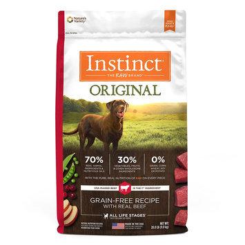 Natures Variety Instinct Nature's Variety Instinct Original Adult Dog Food - Natural, Grain Free, Raw, Beef size: 20 Lb