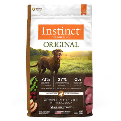 Natures Variety Instinct Nature's Variety Instinct Original Dog Food - Natural, Grain Free, Raw, Duck size: 20 Lb