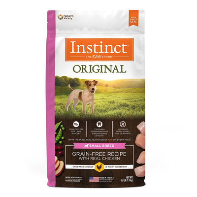 Natures Variety Instinct Nature's Variety Instinct Original Small Breed Dog Food - Natural, Grain Free, Raw, Chicken size: 4 Lb