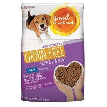 Good Natured, Grain Free Adult Dog Food - Natural, Lamb and Pea size: 14 Lb