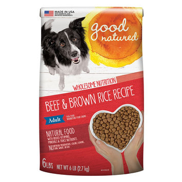 Good Natured, Grain Free Adult Dog Food - Natural, Beef and Brown Rice size: 6 Lb, Kibble