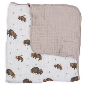 Little Unicorn Cotton Muslin Quilt, Size One Size - Brown