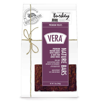 Vera Premium Nature Bars Adult Dog Treat - Non-GMO, Turkey and Oats size: 12 Oz