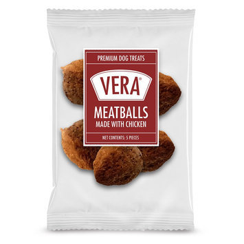 Vera Premium Meatballs Adult Dog Treat - Chicken size: 5 Count