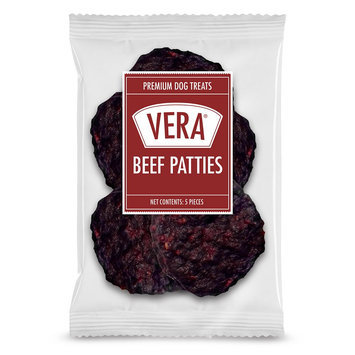 Vera Premium Beef Patties Dog Treat size: 5 Count