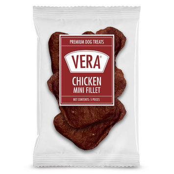 Vera Premium Chicken Mini Fillet Dog Treat - Chicken size: 5 Count