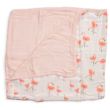 Little Unicorn Deluxe Muslin Quilt - Pink Ladies by Little Unicorn