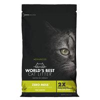 World's Best Cat Litter, Advanced Zero Mess Cat Litter - Clumping, Pine size: 12 Lb