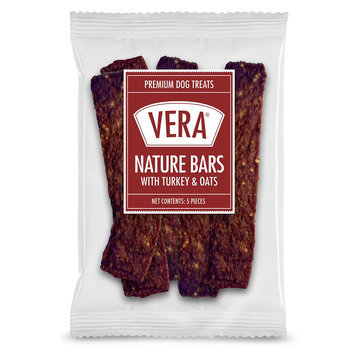 Vera Premium Nature Bars Adult Dog Treat - Non-GMO, Turkey and Oats size: 5 Count