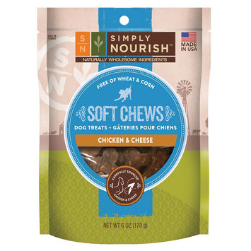 Simply Nourish, Soft Chews Dog Treat - Natural, Chicken and Cheese size: 6 Oz, Chicken & Cheese, Adult