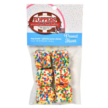 Foppers Confetti Squares Dog Treat - Peanut size: 6 Count, 21181
