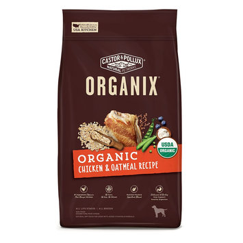 Castor and Pollux Organix Organic Dog Food - Chicken and Oatmeal size: 10 Lb, Castor & Pollux
