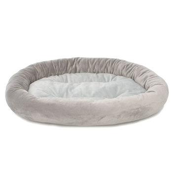Grreat Choice Bolster Pet Bed, Gray
