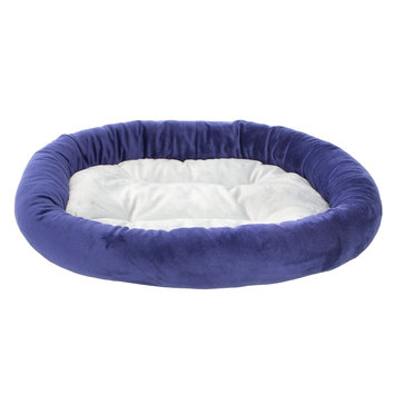 Grreat Choice Bolster Pet Bed, Blue