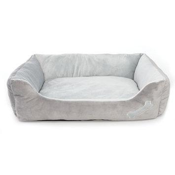 Grreat Choice Bone Cuddler Pet Bed, Gray