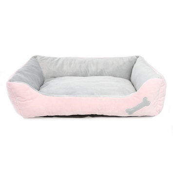 Grreat Choice Bone Cuddler Pet Bed, Pink