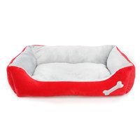 Grreat Choice Bone Cuddler Pet Bed, Red
