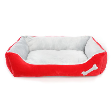 Grreat Choice Bone Cuddler Pet Bed, Red