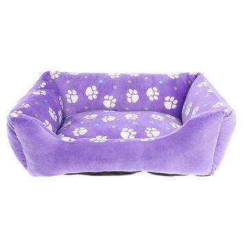 Grreat Choice Paw Print Cuddler Pet Bed, Purple, Top Paw