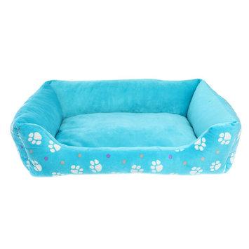 Grreat Choice Paw Print Cuddler Pet Bed, Turquoise, Top Paw