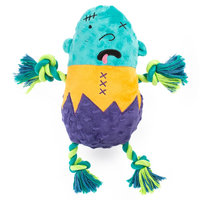 Thrills and Chills, Halloween Rope Zombie Dog Toy - Plush, Multi-Color, Thrills & Chills
