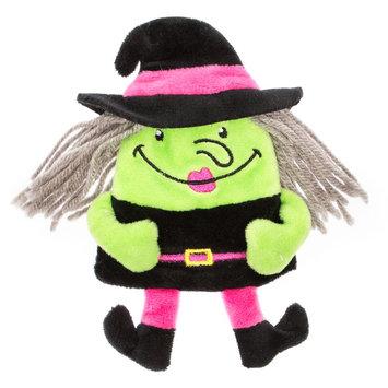 Thrills and Chills, Halloween Flattie Witch Dog Toy - Plush size: Small, Thrills & Chills