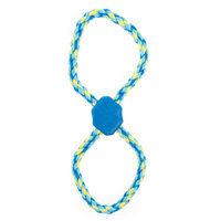 Top Paw Figure 8 Rope Dog Toy, Blue