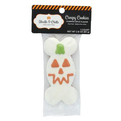 Thrills and Chills Pet Halloween Creepy Cookies Pumpkin Bone Dog Treat, Thrills & Chills