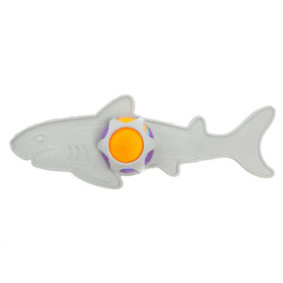 Top Paw Shark with Tennis Ball Dog Toy