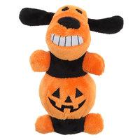Bobo, Pumpkin Dog Toy - Plush, Squeaker