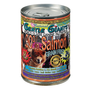 Gentle Giants Dog Food - Natural, Salmon, 12ct Case size: 13 Oz