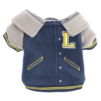 ED Ellen DeGeneres Letterman Dog Jacket size: X Small