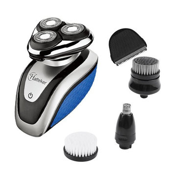 HATTEKER Electric Shaver Razor For Men All In One Bald Hair Trimmer Beard & Nose Trimmer Facial Cleansing Brush Waterproof Rechargeable