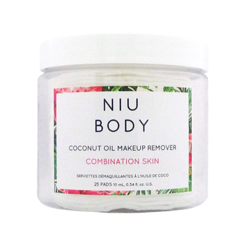 NIU BODY Makeup Remover Wipes, Combination Skin, 25 Ct