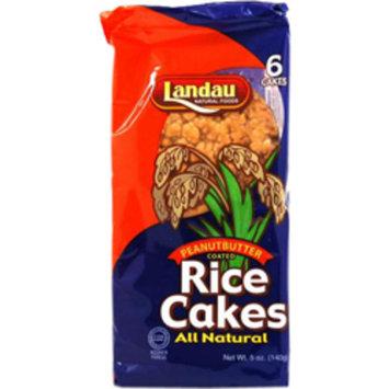 Landau Kosher All Natural Rice Cakes Peanut Butter Coated - 6 Cakes