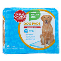 Grreat Choice X-Large Dog Pads size: 50 Count